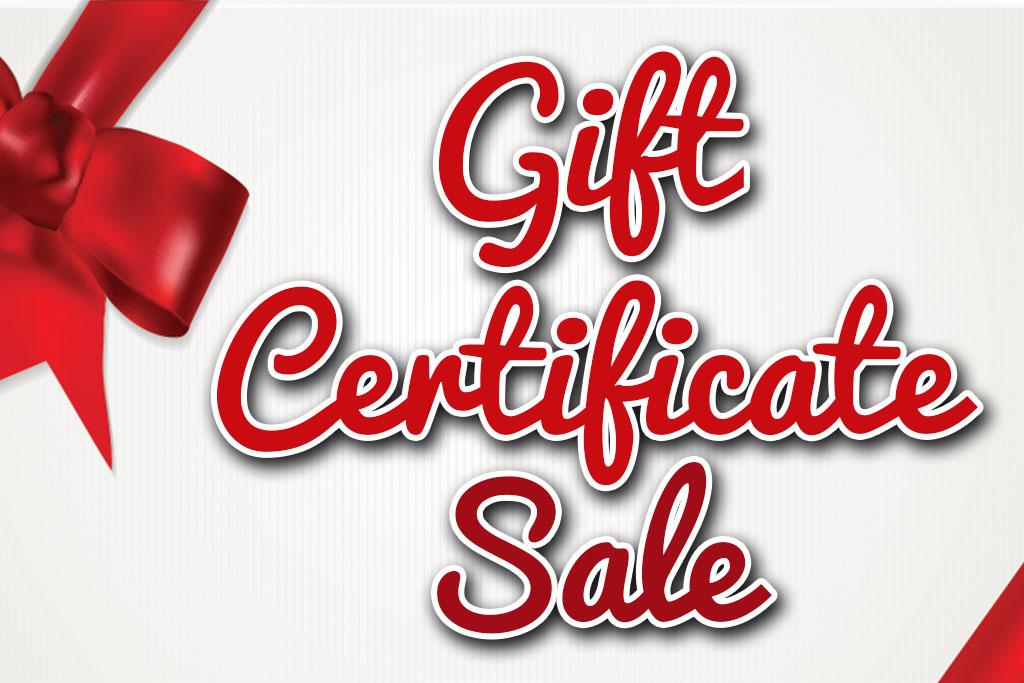 Holiday Gift Certificate Sale Winston Salem